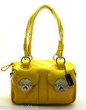 MIMCO MINI TURNLOCK ZIP TOP BAG PATENT LEATHER IN MARIGOLD (YELLOW) BNWT RRP$425