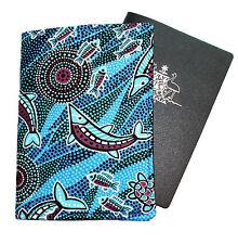 PASSPORT COVER/FOLDER/WALLET - AUSTRALIAN ABORIGINAL #14 by Graggie Australia*GA