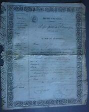 PASSEPORT à l'Etranger. De Paris en PRUSSE et Duché de Nassau. 1862.