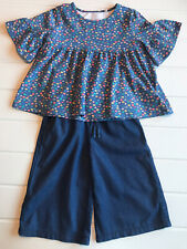 Girls age 5 Years Ditsy Floral Top & Crop Culottes Organic Cotton Kite Kids