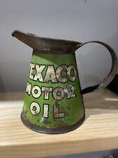 More details for texaco motor oil pourer oil can quart
