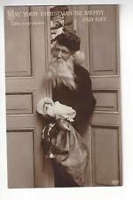 1911 Santa with Doll Postcard
