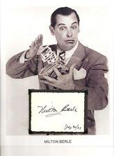 Milton Berle Autograph Texaco Star Theatre Uncle Miltie Mr Television Florodora