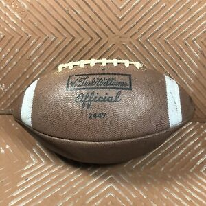 Vintage Ted Williams Official Football Prime Top Grain Leather Triple Lined USA