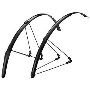 Zefal Shield R30 Road / Racing Bike 700c Wheel Mudguard Set - Black