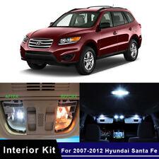 13x Xenon White LED Lights Interior Package Kit For 2007-2012 Hyundai Santa Fe