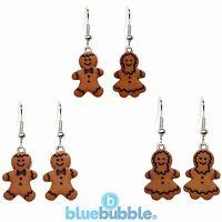 Bluebubble CHRISTMAS COOKIE Gingerbread Earrings Sweet Retro Kitsch Novelty Gift