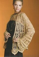 Crochet Pattern ~ LADIES GOLDEN HOLIDAY JACKET ~ Instructions