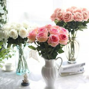 Real Touch Single Head Artificial Rose Flower for Home Decor, Party Decoration