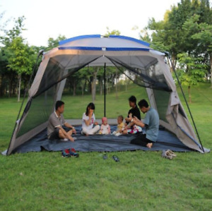 Outdoor Camping Ultralarge 5-8 Person Sun Shelter Beach Tent With Mosquito Net
