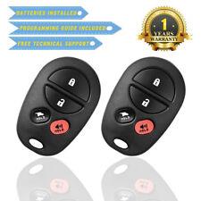 2 for 2004 2005 2006 2007 2008 2009 Toyota Sienna Keyless Entry remote key fob