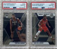 2019 Panini Mosaic Zion Williamson Rookie Lot #209 & #269 PSA 10 *INVEST*
