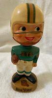 VINTAGE 1960s AFL NFL NEW YORK JETS BOBBLEHEAD NODDER BOBBLE HEAD