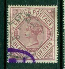 CEYLON 142 SG201 Used 1887 1r12c claret QVIC Cat$30