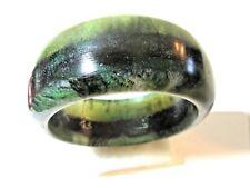 G10 Dark And Lighter Green Silvery Glitter Marbled Bangle Bracelet Resin