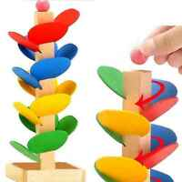 Colorful Wooden Toys wood Tree Run Track bead Game for Baby Montessori Blocks