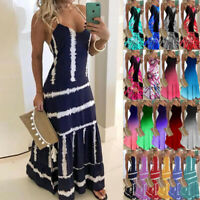 Womens Ombre Sundress CAMI Party Ladies Maxi Pullover Fitted UK Long Slip Dress