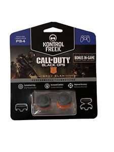 KontrolFreek Call Of Duty Black Ops 4 Thumbsticks for PS4 PS5 Silver Grav Slam
