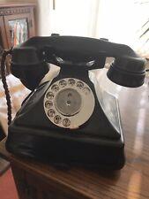 More details for **genuine** black gpo 232 bakelite telephone +  bell set no 26 1947 antique dial