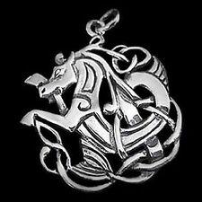 Silber Anhänger - Celtic Horse keltisches Pferd - 925er Sterling Silber
