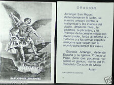 COPY OF OLD BLESSED ARCHANGEL MICHAEL HOLY CARD PRAYER ANDACHTSBILD SANTINI C786