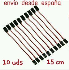 Cable extension servo 15cm, conector JR futaba, macho a hembra (10 unidades)