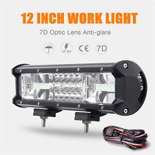 7D Tri Row 12Inch 324W LED Work Light Bar Spot Flood Combo Truck SUV 4WD OFFROAD