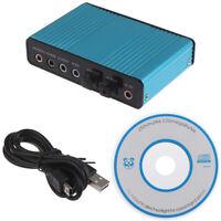 USB-Soundkarte 6-Kanal 5.1 Optische externe Audiokarte CM6206-Chipsätze ^ jiXUI