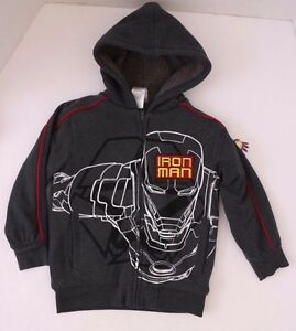 4-5 Youth Licensed Marvel Iron Man Hoodie Size XS B37