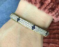 Turkish Handmade Jewelry Sterling Silver 925 Zircon Bracelet MKI