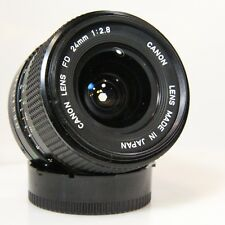 Canon FD 24mm f/2.8 Wide Angle Prime RARE FAST SHARP Lens Canon NFD 24mm (C990)
