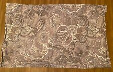 1 Ralph Lauren King Size Pillow Sham 37x23 Brown Beige Paisley