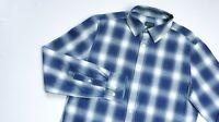 G-Star Raw Rivo Core Casual shirt men Long Sleeve top size Large Slim navy blue