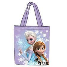 FROZEN borsa a spalla in tessuto viola con stampa lucida davanti 40x36 cm