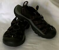 KEEN Hiking/Waterproof Black with Yellow detail Sandals size 7 women's