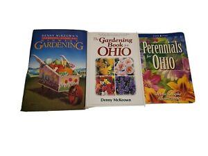 Lot of 3 OHIO Midwest Gardening Guide Books Denny McKeown Debra Knapke Perennial