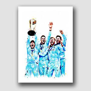 ENGLAND CRICKET WORLD CUP WINNERS -  FRAMED ART PRINT!