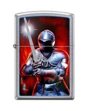 Zippo 6959 Mazzi Soldier in Armor Sword Street Chrome Finish Lighter