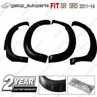 Wrinkle Shiny Black Fender Flares Wheel Arch Fit For Toyota Hilux SR5 SR 2011-14