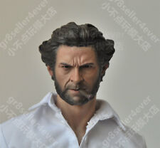 Custom made 1/6 scale Head Sculpt Wolverine Hugh Jackman X-Men with cigar