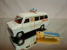 DINKY TOYS 274 276 FORD TRANSIT VAN AMBULANCE - WHITE - GOOD CONDITION