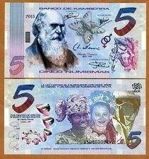 Kamberra, Kingdom, 5 Numismas, 2015, UNC > Darwin > Upgraded Security