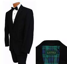 Boys Size Ralph Lauren Black 2 Button Super 130s Wool Jacket Kids Suit Blazer