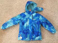 ZEROXPOSUR girls coat BLUE SKY ~ sz 5/6 reflective w/ hood & ear cover headband