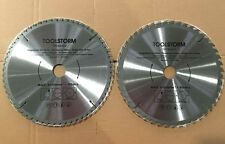 **2PC Circular Saw Blades 250mm 48T,60Teeth 30MM BORE With 2 Reduction TCT CUTTI