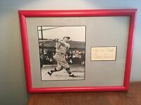 Frank Frisch Baseball Autograph Photo The Old Flash HOF Signature Picture Framed