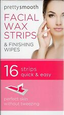 16 X PRETTY FACIAL WAXING STRIPS FOR LIPS CHIN CHEEKS HAIR REMOVAL STRIPS