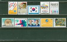 S. Korea 1981-1983: 26 MNH Stamps #1273/1355; Paintings, Flags, Sports-Lot#8/9