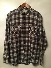 Men's Animal Classic Collection Brown Check Casual Shirt Size XXL