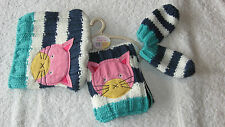 Next 3-9 months CAT HAT SCARF & MITTENS SET *BNWT* Baby Girls New Winter 3-6-9